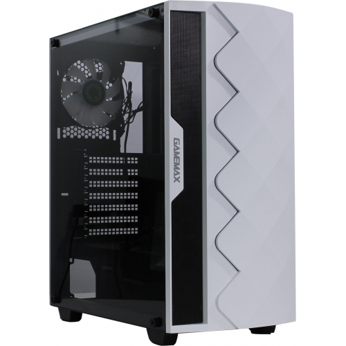 Корпус GameMax White Diamond A361 (ATX,Бел., USB3.0, Зак.стекло,1*120мм вент+контроллер, без БП)