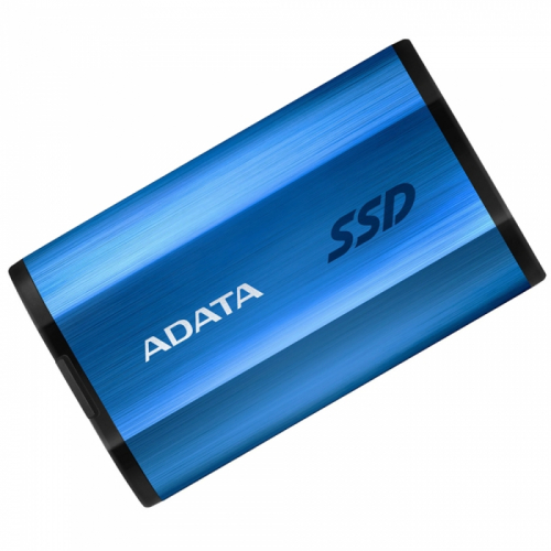 "1.8"" 512GB ADATA SE800 Blue External SSD ASE800-512GU32G2-CBL USB 3.2 Gen 2 Type-C, 1000R, USB 3.2 Type-C to C cable,USB 3.2 Type-C to A cable, Quick Start Guide, Tough-IP68 dustproof and waterproof, Military-Grade shockproof, RTL  (771465)"